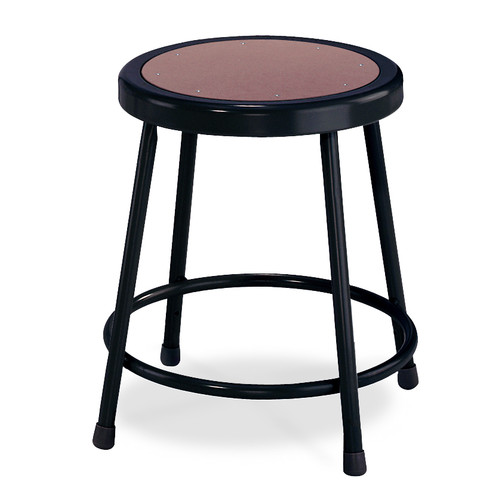 National Public Seating Stool with Round Hardboard Seat