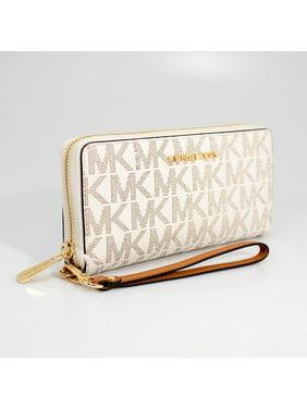 43a765936383 Product Image Michael Kors Vanilla/Acorn Jet Set Travel Continental Wristlet  Wallet