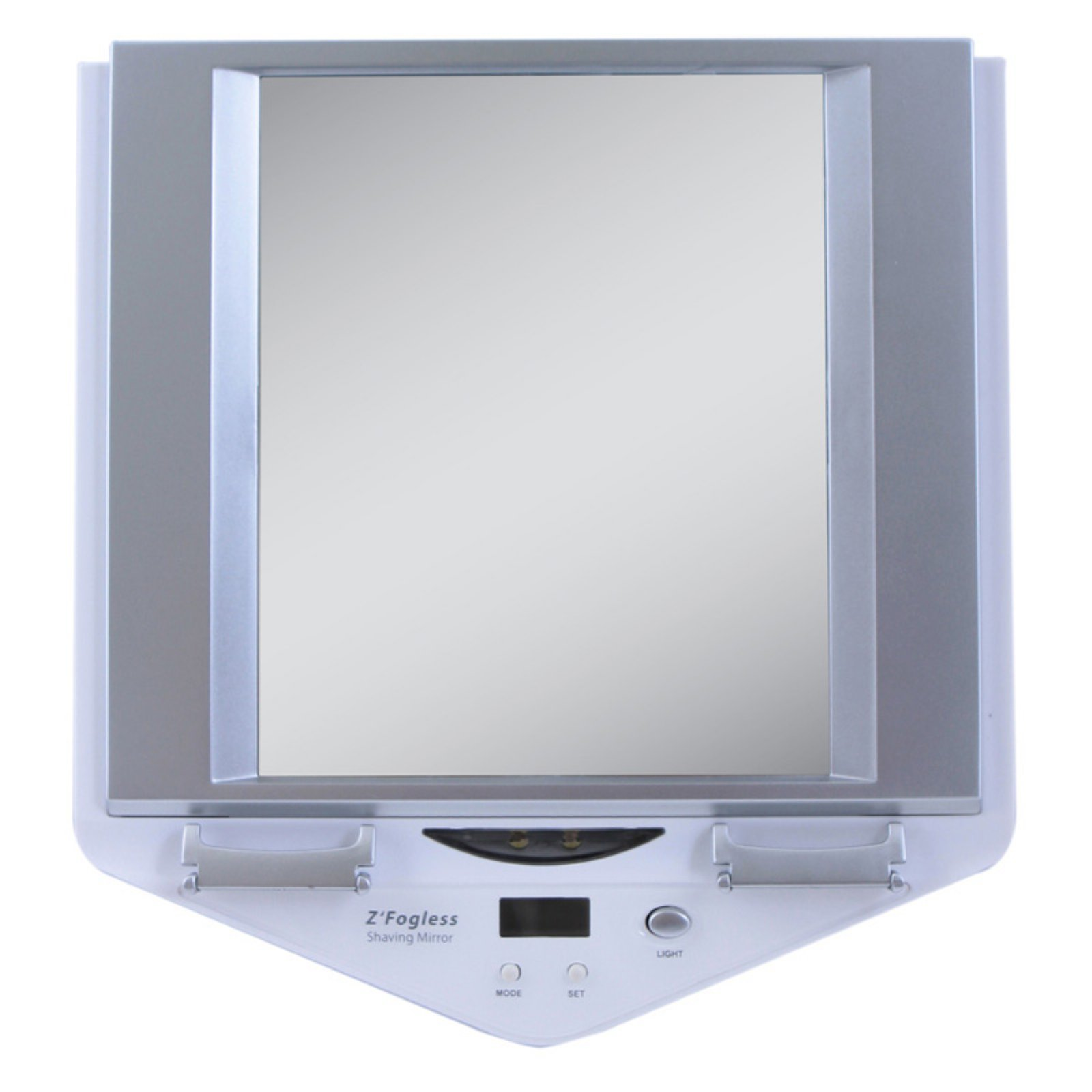 Zadro Z'Fogless Fog-Free LED Lighted Shower Mirror with LCD Clock - White