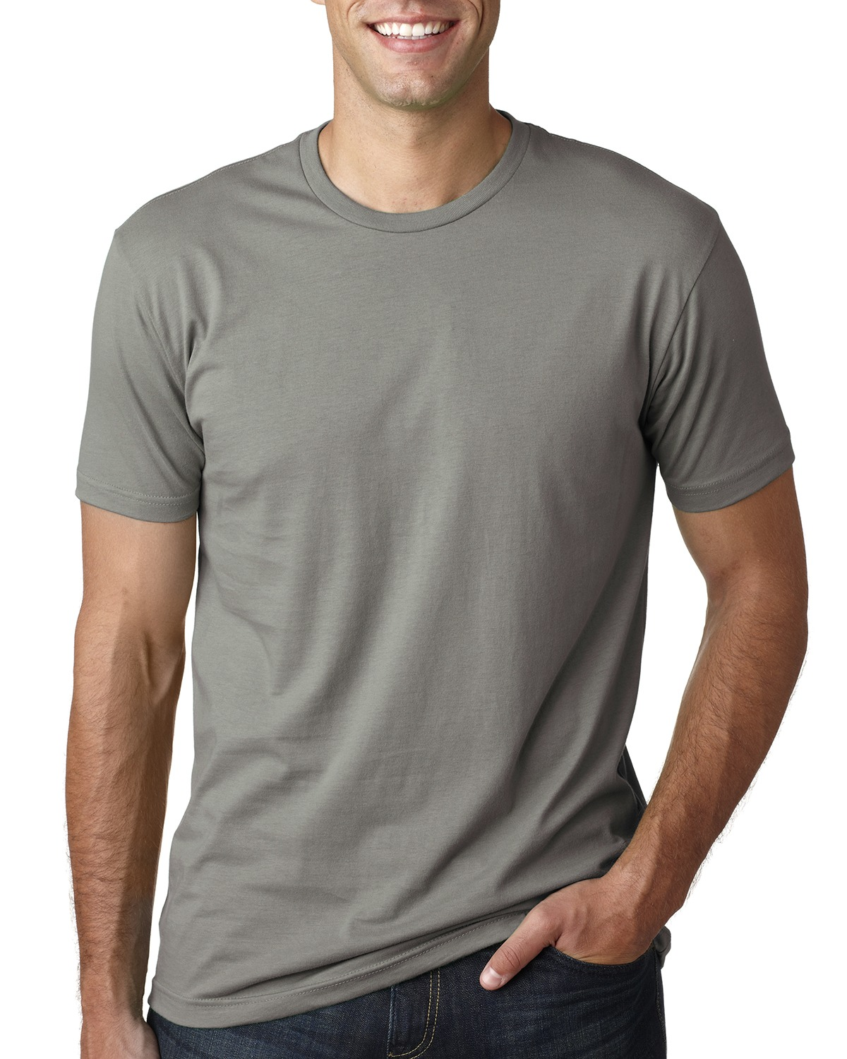 Branded Next Level Mens Cotton Crew - WARM GRAY - XL (Instant Saving 5% & more)