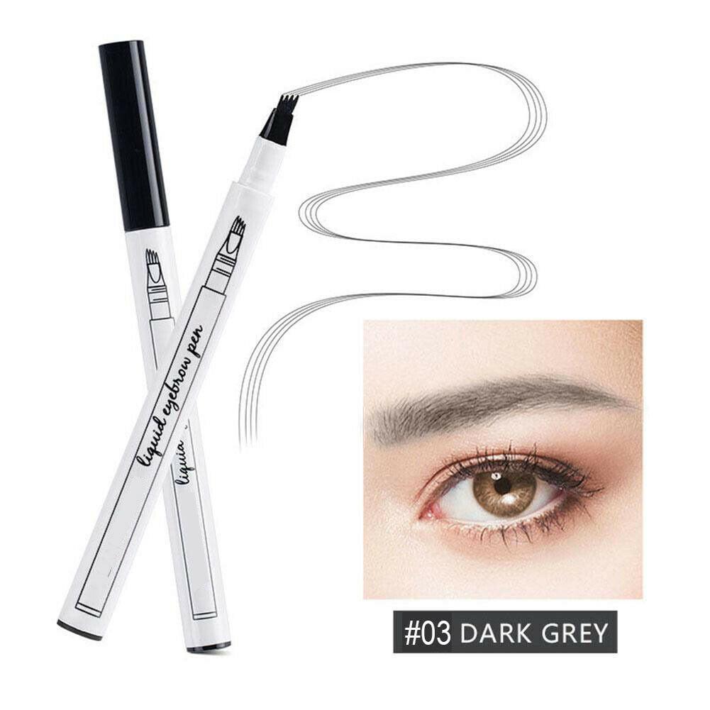 Microblading Tattoo Eyebrow Ink Fork 4 Tip Pen Eye Brow 4D ...