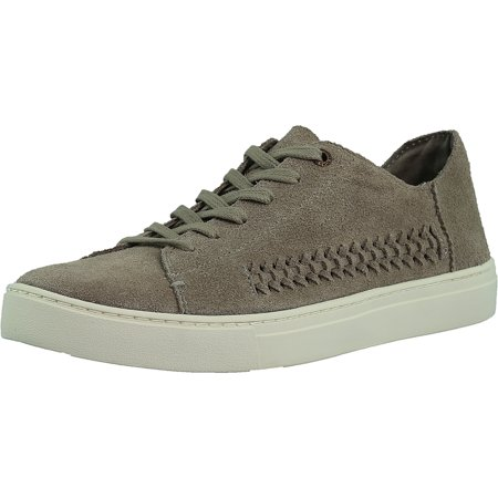 Toms Women's Lenox Suede Desert Taupe Deconstructed Woven Panel Ankle-High Fashion Sneaker - (Lenox Shoe)