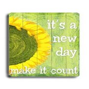 It's a new day Wood Sign 9x12 (23cm x 31cm) Solid