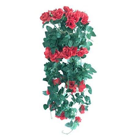 Colorfulife Artificial Lifelike Silk 37 Rose Ivy Flower Vine Rattan