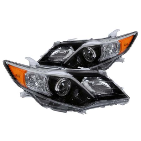 Spec-D Tuning For 2012-2014 Toyota Camry SE Style Shiny Black Projector Headlight (Left+Right)