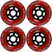 Bigfoot Longboard Wheels 83mm 78a Cored Classics Red (Set of 4)