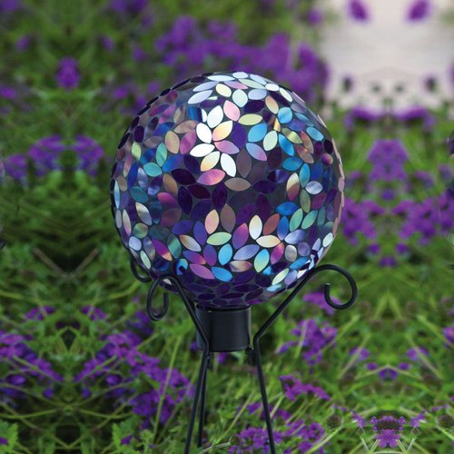 Evergreen Flag & Garden Irridescent Mosaic Gazing Globe