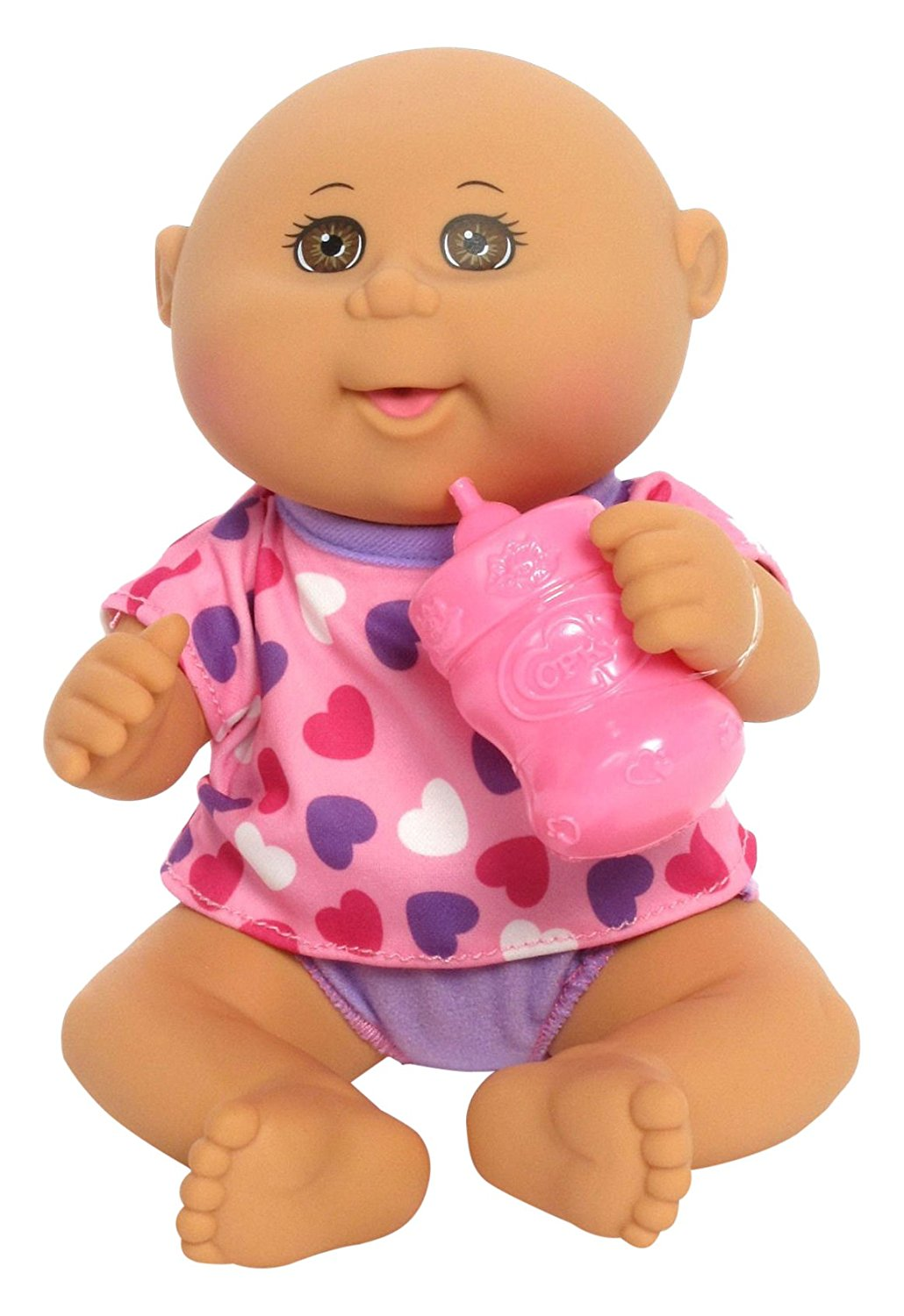 Drink 'n Wet Bald Newborn Pink Hearts, Make room in your heart for the 11'' Cabbage Patch Kids Drink N' Wet... by