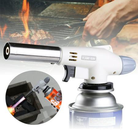 CABINA HOME Flame Gun Camping Gas Torch Welding Fire Maker Lighter Butane Burner Flame ()