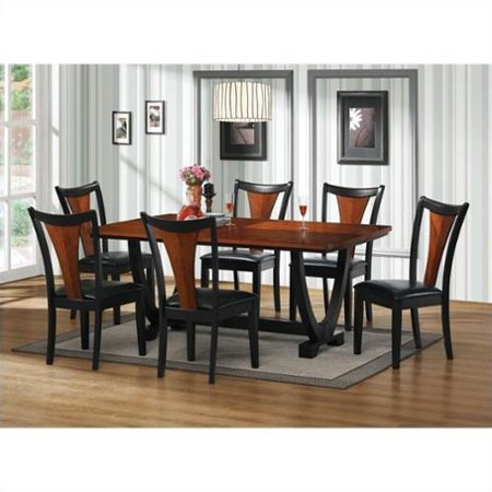 Coaster Boyer Rectangular Dining Table In Black And Cherry