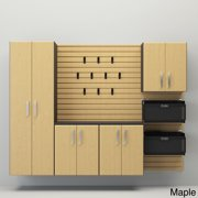 Flow Wall 6-piece Deluxe Cabinet Set Maple