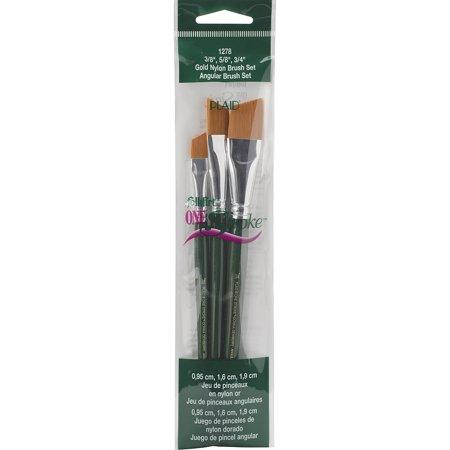 Plaid Paint Brushes (Plaid 1-Stroke Brush Set, Angle, 3/8