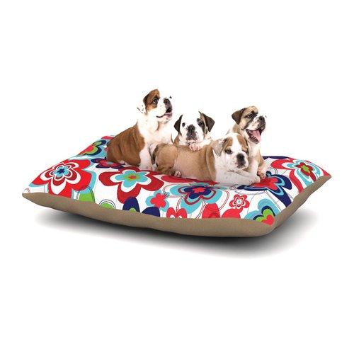 East Urban Home Jolene Heckman 'A Cheerful Morning' Dog Pillow with Fleece Cozy Top