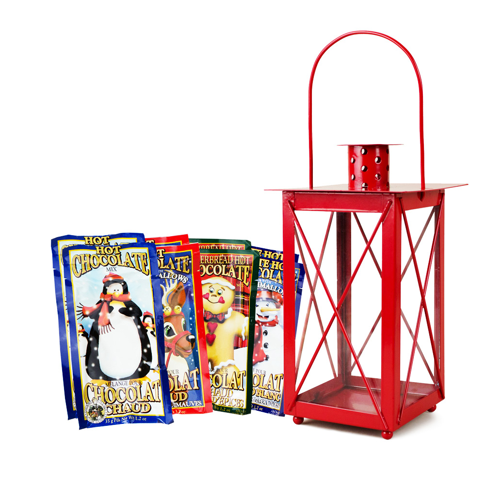 Village Du Gourmet Hot Chocolate Lantern Gift Set