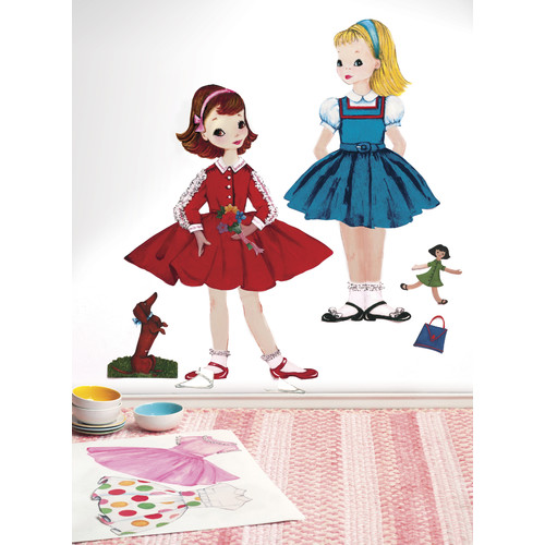 Wallies Peel and Stick Dress Up Doll Wall Decal