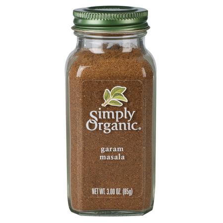 Certified Organic Spice (Simply Organic Garam Masala Certified Organic 3 oz. bottle )