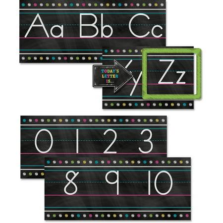 Chalkboard Brights Alphabet Line Bulletin Board Set](Chalkboard Bulletin Board)