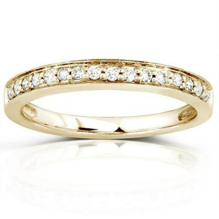 Annello 14k Yellow Gold 1/6ct TDW Diamond Wedding Band (H-I, I1-I2) Size 9