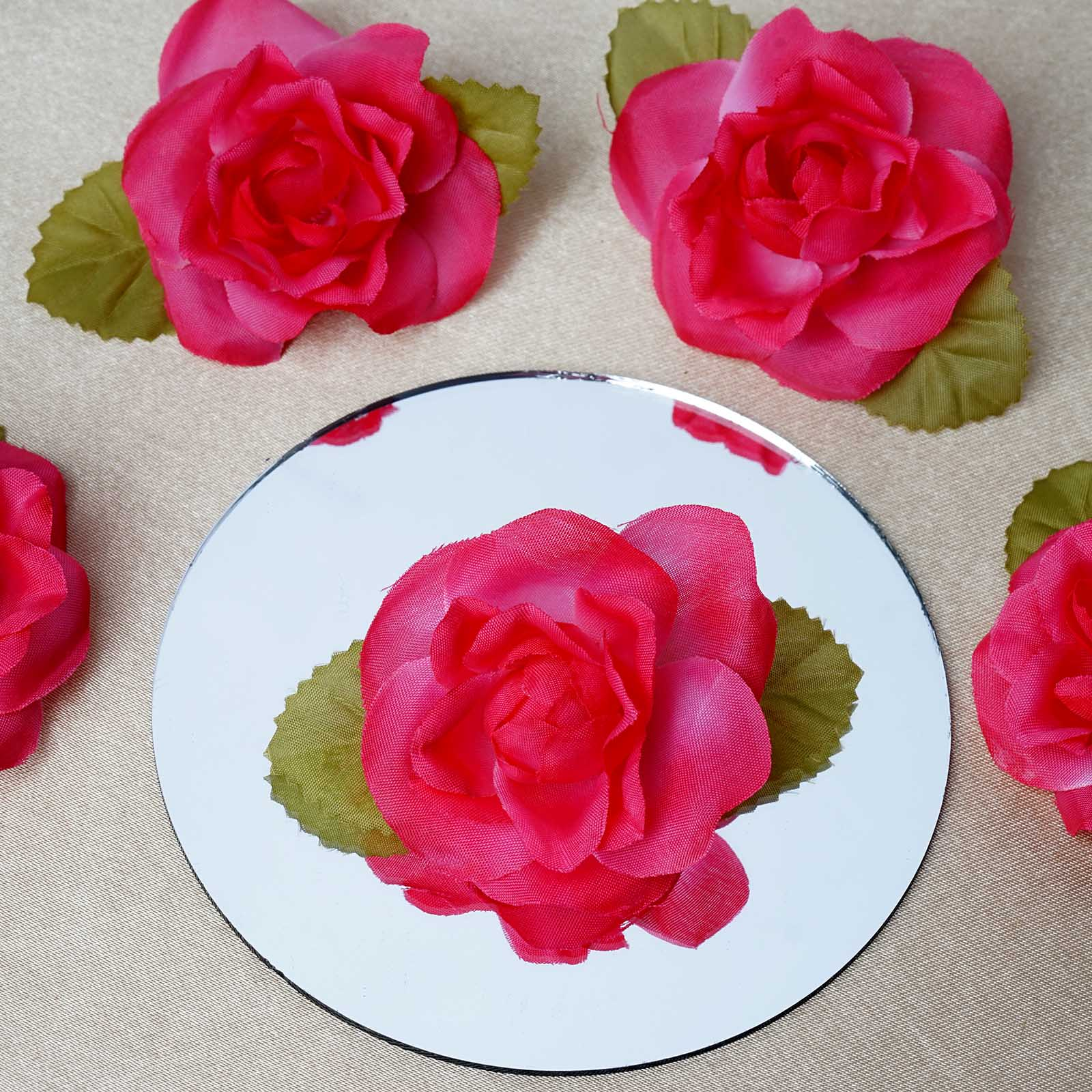 BalsaCircle 12 Open Roses Heads Craft Flowers - Mini Flowers for DIY Wedding Party Favors Decorations Supplies