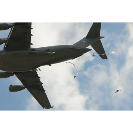 Laminated Poster Paratroopers Assigned To Operations Group  At The Joint Readiness Training Center  Jump From A Us Ai Poster Print 24 X 36