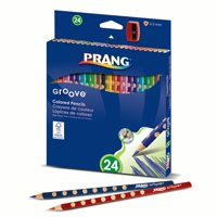Prang® Groove Colored Pencils 24ct with sharpener, Set of 3pks
