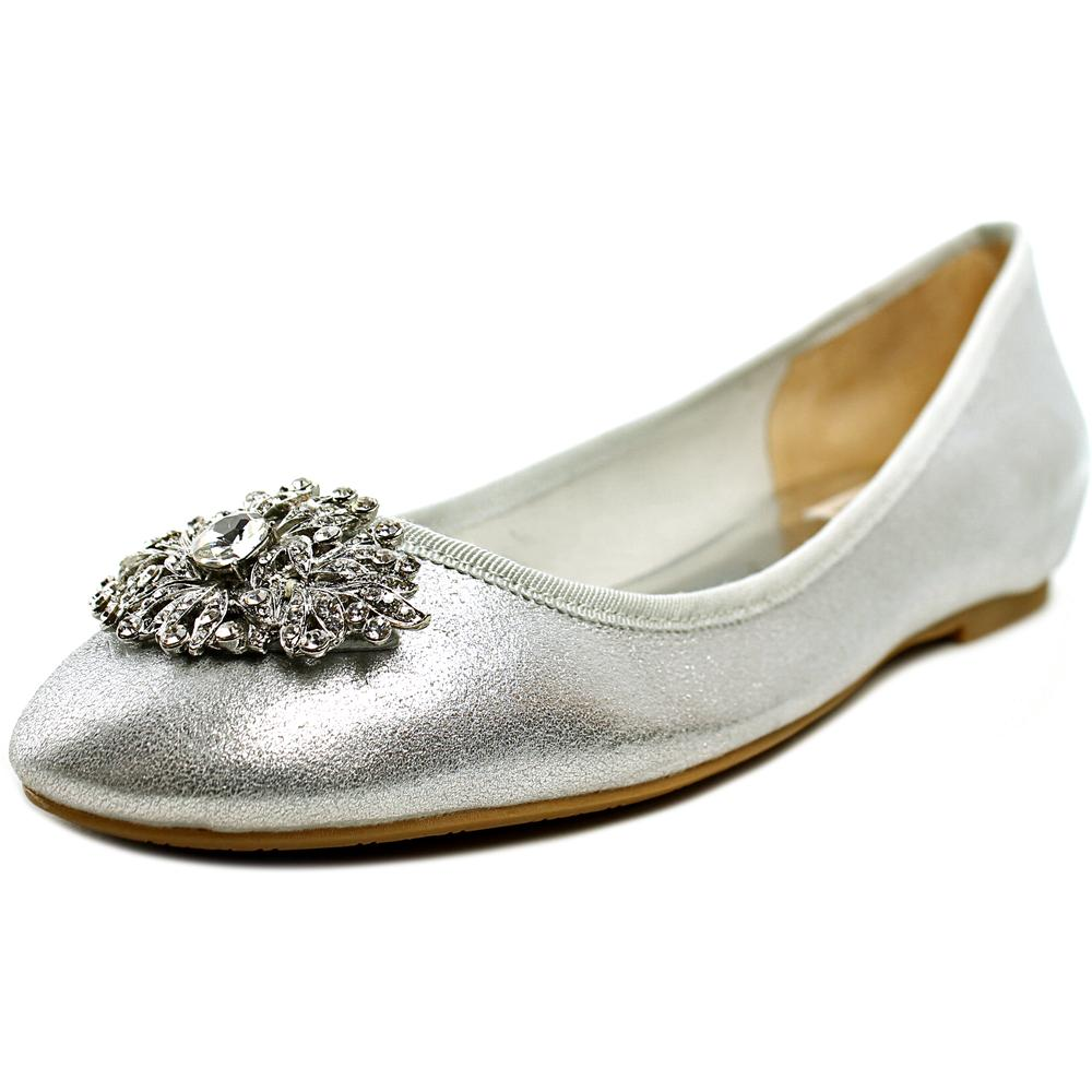 Badgley Mischka Abella II Round Toe Leather Ballet Flats by Badgley Mischka