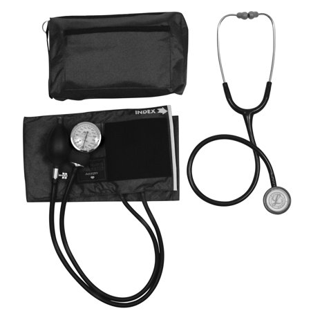 MatchMates Combination Kit with a 3M Littmann Classic II S.E. Stethoscope and a MABIS Aneroid Sphygmomanometer, Black