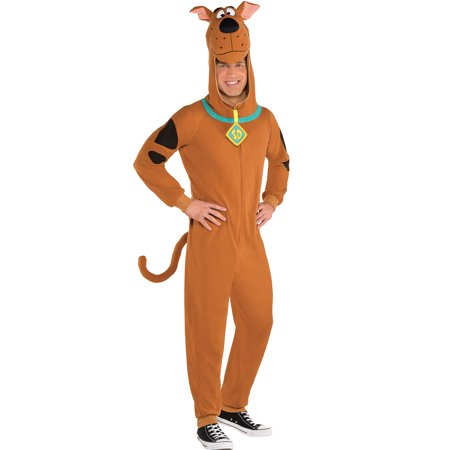 Suit Yourself Zipster Scooby-Doo One-Piece Costume for Adults, Includes a Jumpsuit with a Scooby Headpiece](Domo Suit)