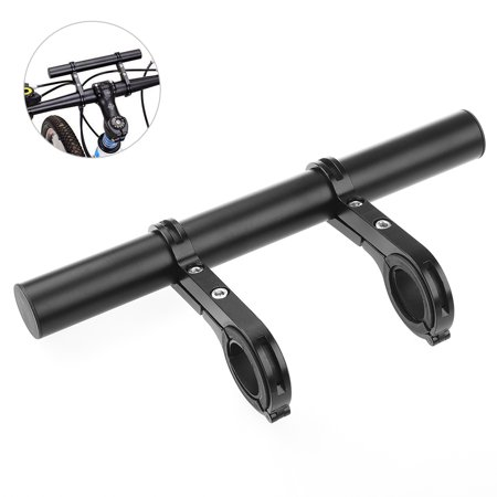 - RUNACC Lightweight Double Bicycle Extender Mount Aluminum Alloy Bicycle Handlebar Extension Bracket, Ideal for 1.3-Inch Handlebars, Black