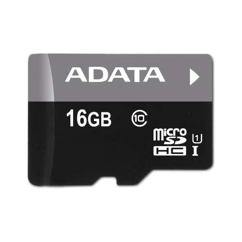 ADATA Premier 16GB microSDHC Flash Memory Card - CL10, UHS-I, With Adapter  - AUSDH16GUICL10-RA1