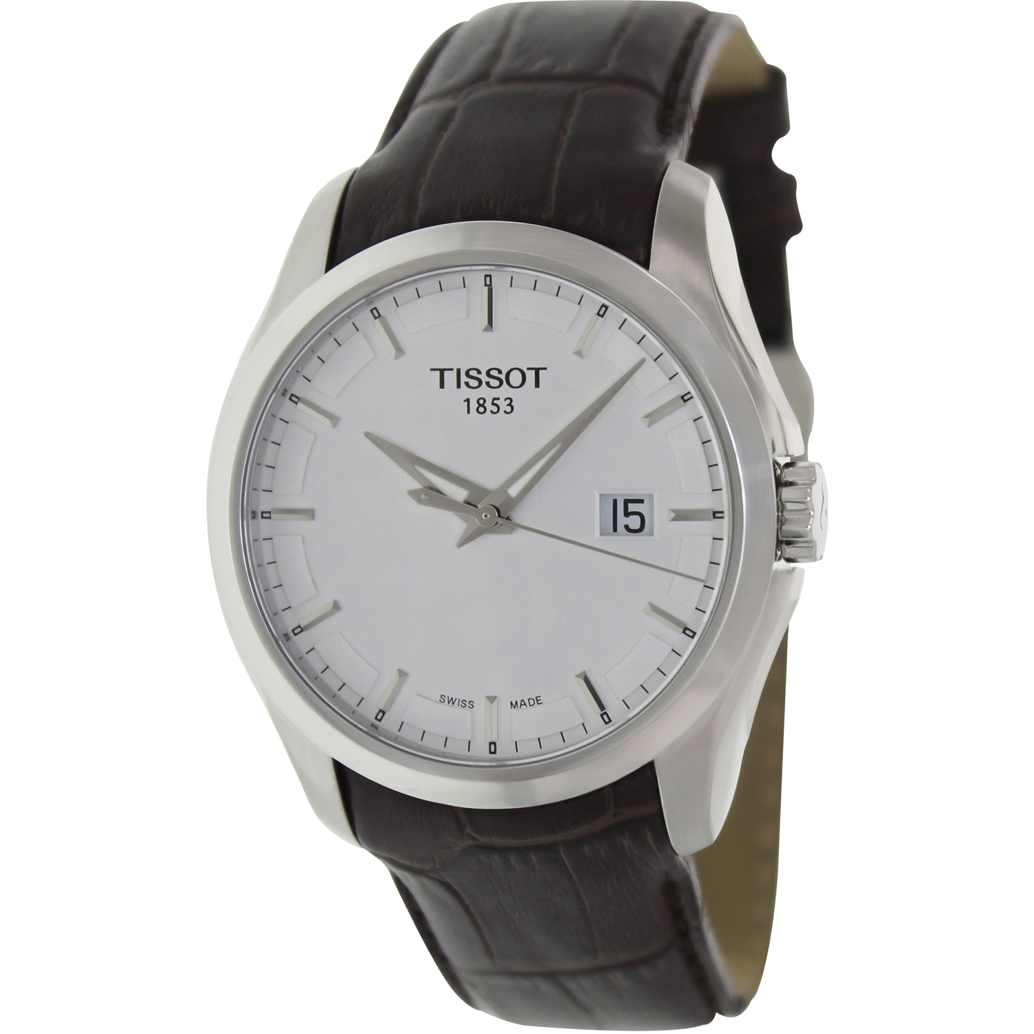 Tissot Men's Couturier T035.410.16.031.00 Brown Alligator...