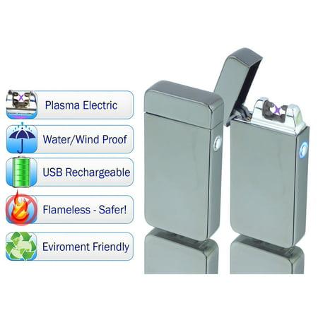 YSO Tac Plasma Lighter - USB Rechargable, Electric Windproof Splashproof Flameless Lighter, Butane Free Tactical Dual Arch - Flameless Lighter