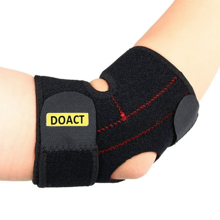 Adjustable Elbow Support, Tennis Golfers Elbow Brace Wrap Arm Support Strap Band (Adjustable Upright Support)