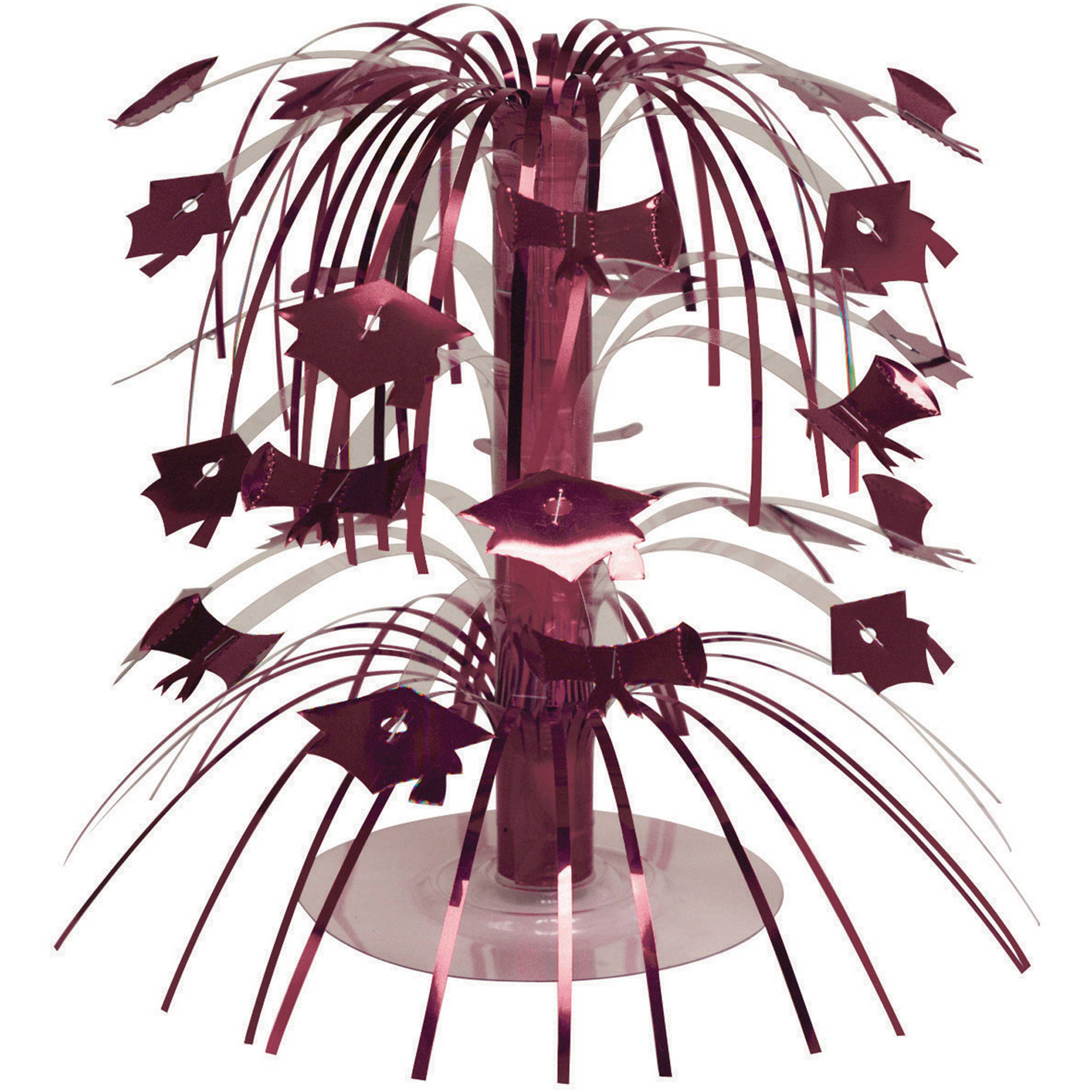 Burgundy Graduation Mini Cascade Centerpiece