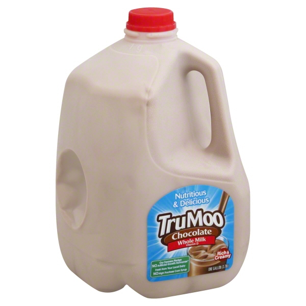 trumoo chocolate whole milk 1 gallon walmartcom