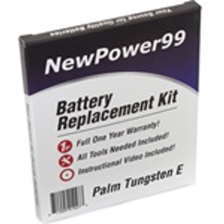 Tungsten Replacement Battery - Palm Tungsten E Battery Replacement Kit with Tools, Video Instructions, Extended Life Battery and Full One Year Warranty