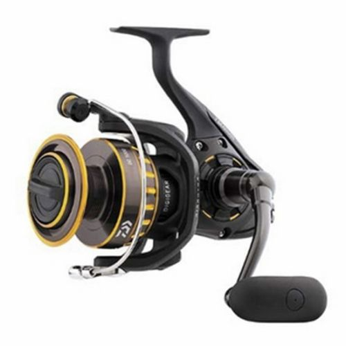 "Daiwa BG Saltwater Spinning Reel 2500, 5.6:1 Gear Ratio, 6+1 Bearings, 33.20"" Retrieve Rate, 13.20 lb Max Drag"
