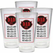 Personalized Established Pub Glass Set of 4