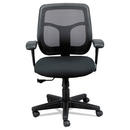 Eurotech Apollo Mid-Back Mesh Chair, Black Seat/Black Back
