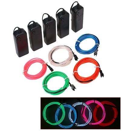 Multicolor Flexible EL Wire Neon Light Rope Tube For Parties Halloween Xmas DIY Décor - Diy Ropa Halloween