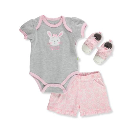 Baby Girls' 3-Piece Shorts Set Outfit](Duck Outfit)
