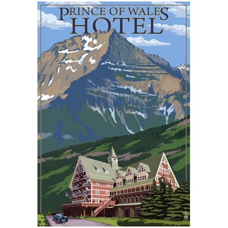 Waterton National Park, Canada - Prince Of Wales Hotel Poster - - Canadian National Hotels