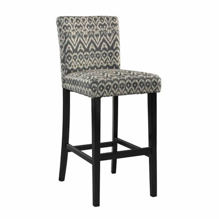 Linon Morocco Bar Stool, Multiple Colors, 30 inch Seat Height