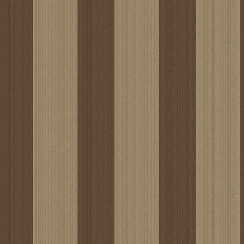 Blue Mountain Bold Stripe Wallcovering, Mocha and Metallic