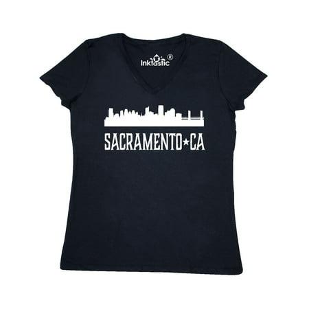Sacramento California Skyline CA Cities Women's V-Neck T-Shirt