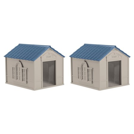 Suncast DH350 Deluxe Weatherproof Snap Together Resin Large Dog House (2