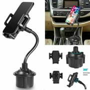 Universal Adjustable Quick Release And Rotatable Cup Holder for GPS Cell Phone Car Mount -Black