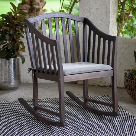 Belham Living Overton Curved Slat Back Outdoor Rocking Chair Double High Back Rocker Settee