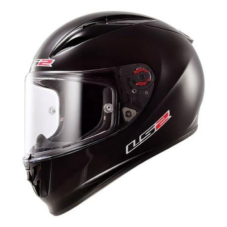 LS2 Helmets Arrow Solid Full Face Motorcycle Helmet (Gloss Black, (Best Full Face Motorcycle Helmet Under 100)