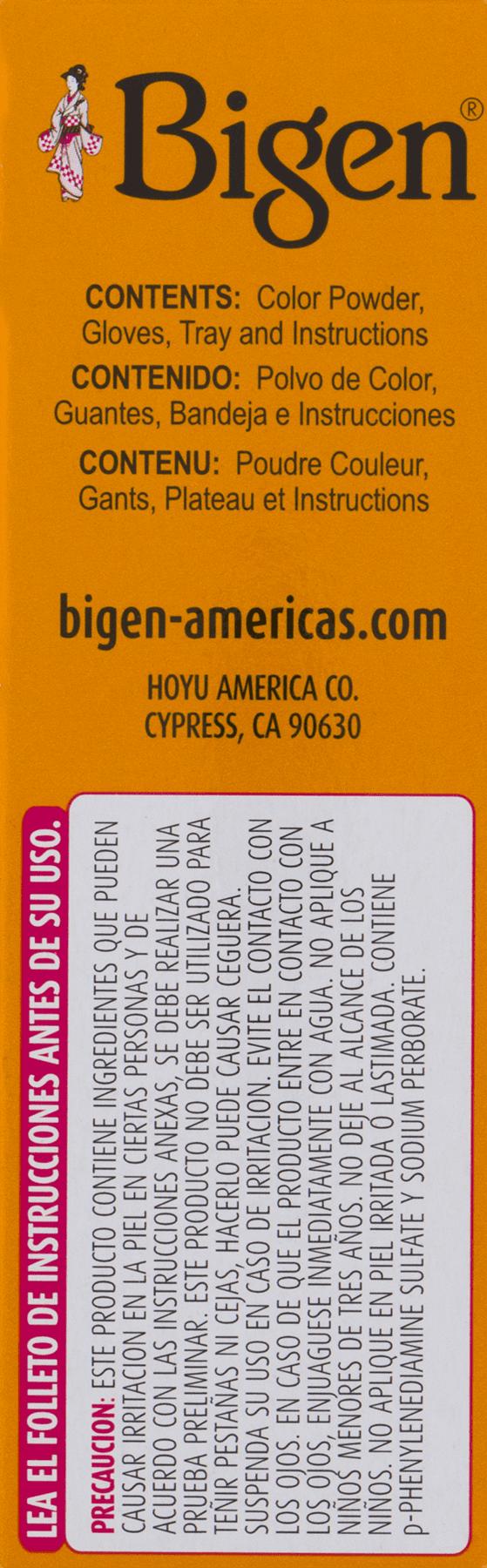Bigen Permanent Powder Hair Color 11 Oriental Black, 11.11 Oz ...